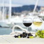 12-ФК-0012 бокалы вино яхты