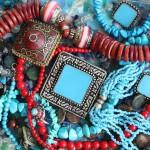 12-ФЛ-0017 украшения марокко бирюза коралл