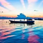 12-ФТ-0007 рыбацкие лодки на закате